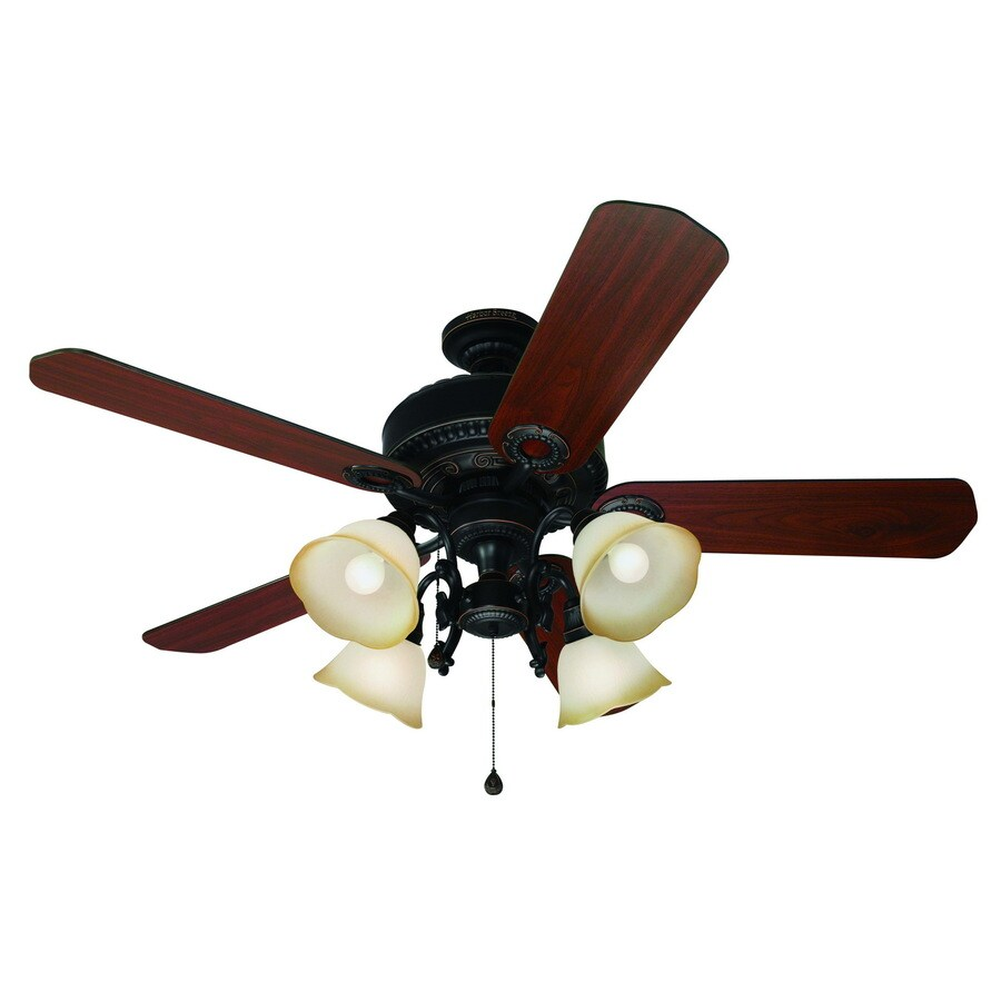 Harbor Breeze 52-in Edenton Aged Bronze Ceiling Fan With
