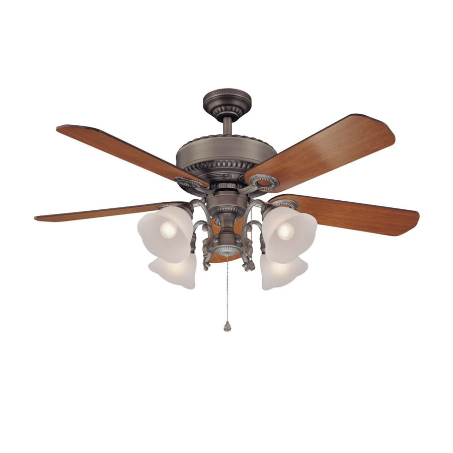 Harbor Breeze 52 Quot Edenton Aged Pewter Ceiling Fan At Lowes Com