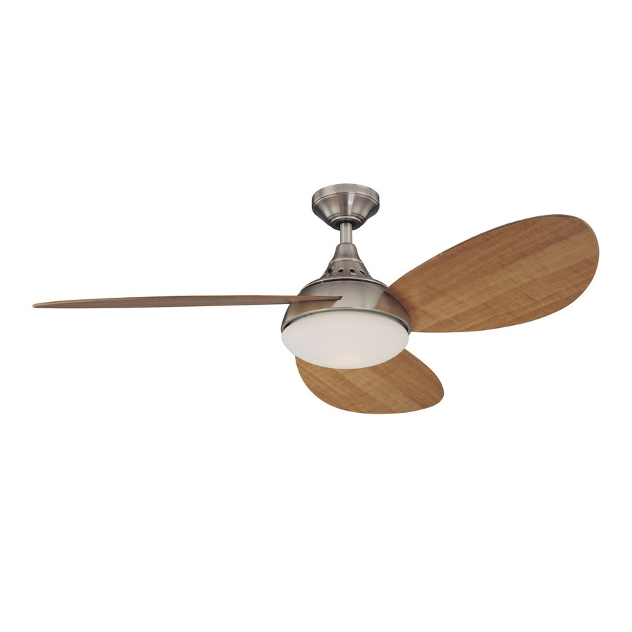 Shop harbor breeze 52 in avian brushed nickel ceiling fan with light harbor breeze 52 in avian brushed nickel ceiling fan with light kit aloadofball Image collections