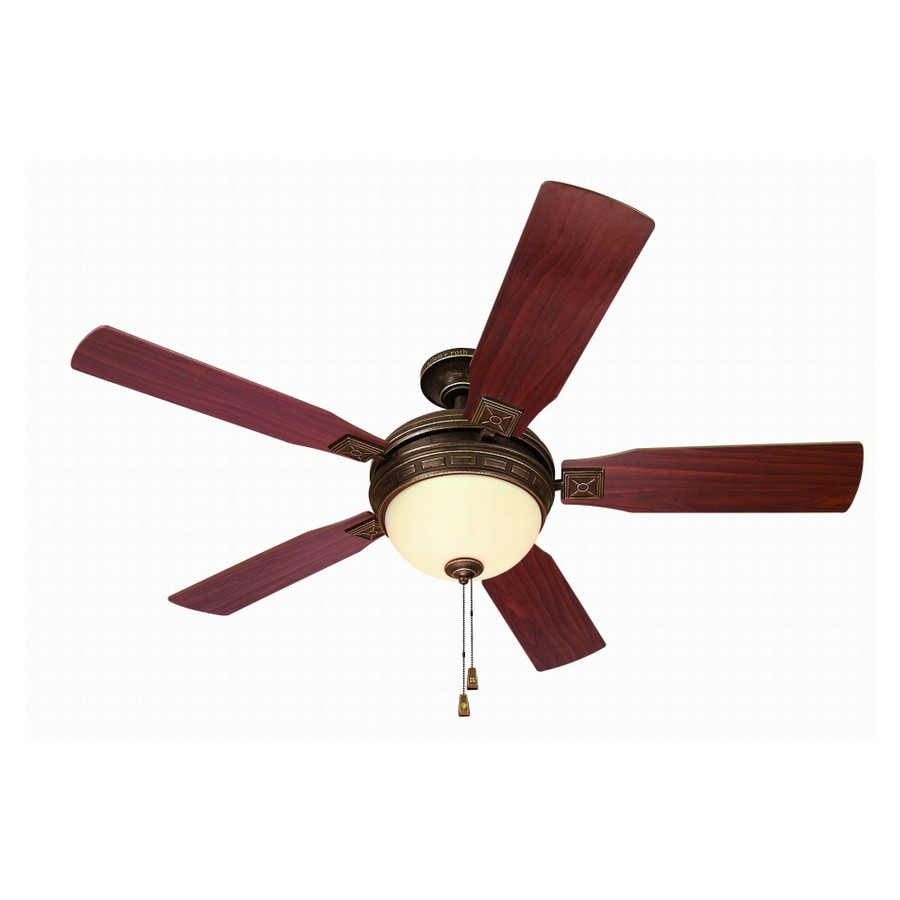 "shop allen + roth 52"" mclaurin tuscan bronze ceiling fan at lowes"