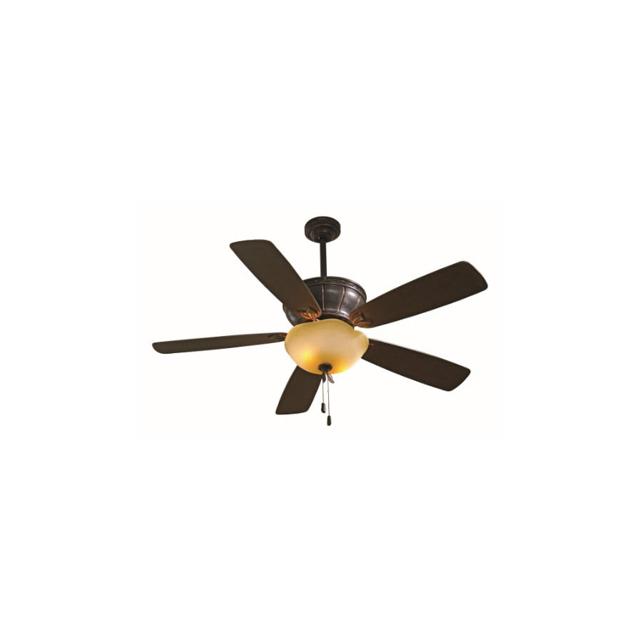 "shop allen + roth 52"" eastview dark oil-rubbed bronze ceiling fan"