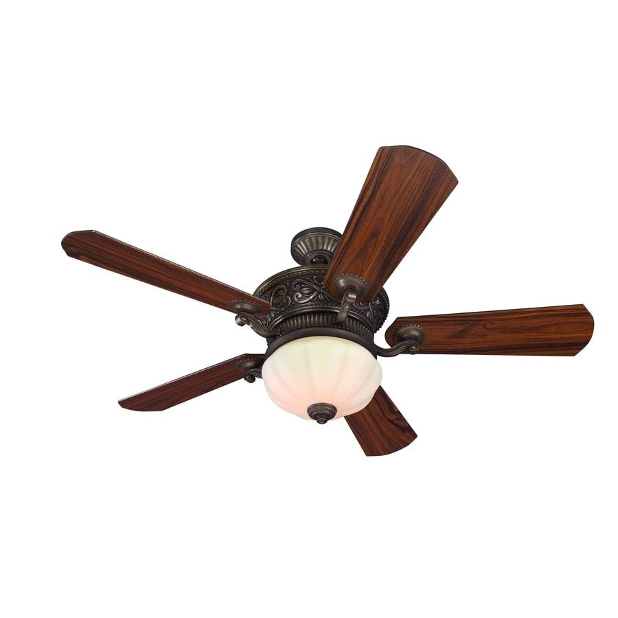 Harbor Breeze 52-in Wakefield Specialty Bronze Ceiling Fan with Light Kit