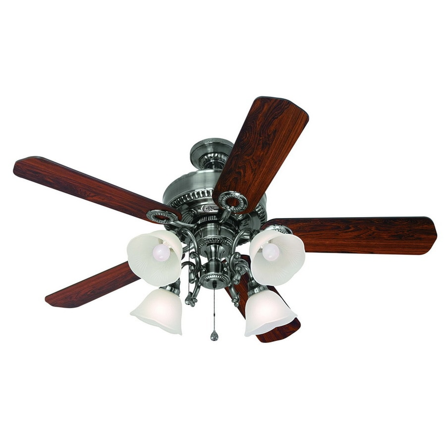 Harbor Breeze 52-in Edenton Polished Pewter Ceiling Fan with Light Kit