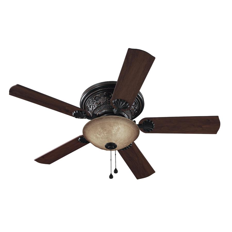Harbor Breeze 52-in Specialty Bronze Ceiling Fan with Light Kit