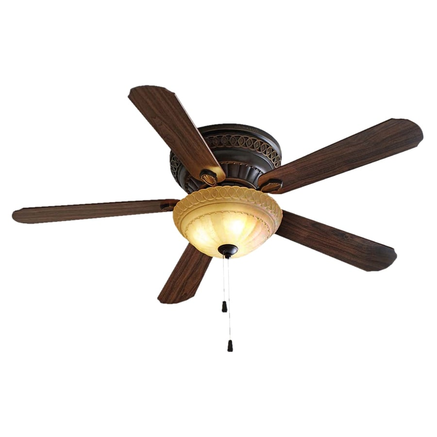 allen + roth 52-in Duncan Oil-Rubbed Bronze Ceiling Fan with Light Kit