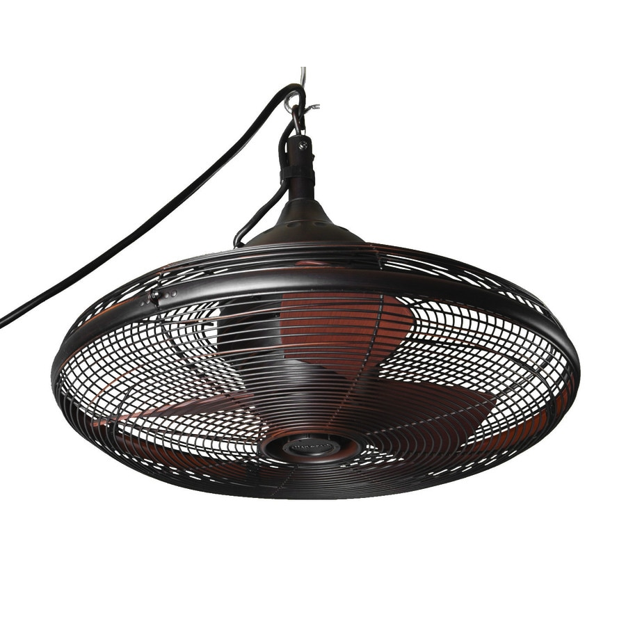 allen + roth Valdosta 20-in Oil rubbed bronze Indoor/Outdoor Downrod Mount Ceiling Fan (3-Blade)