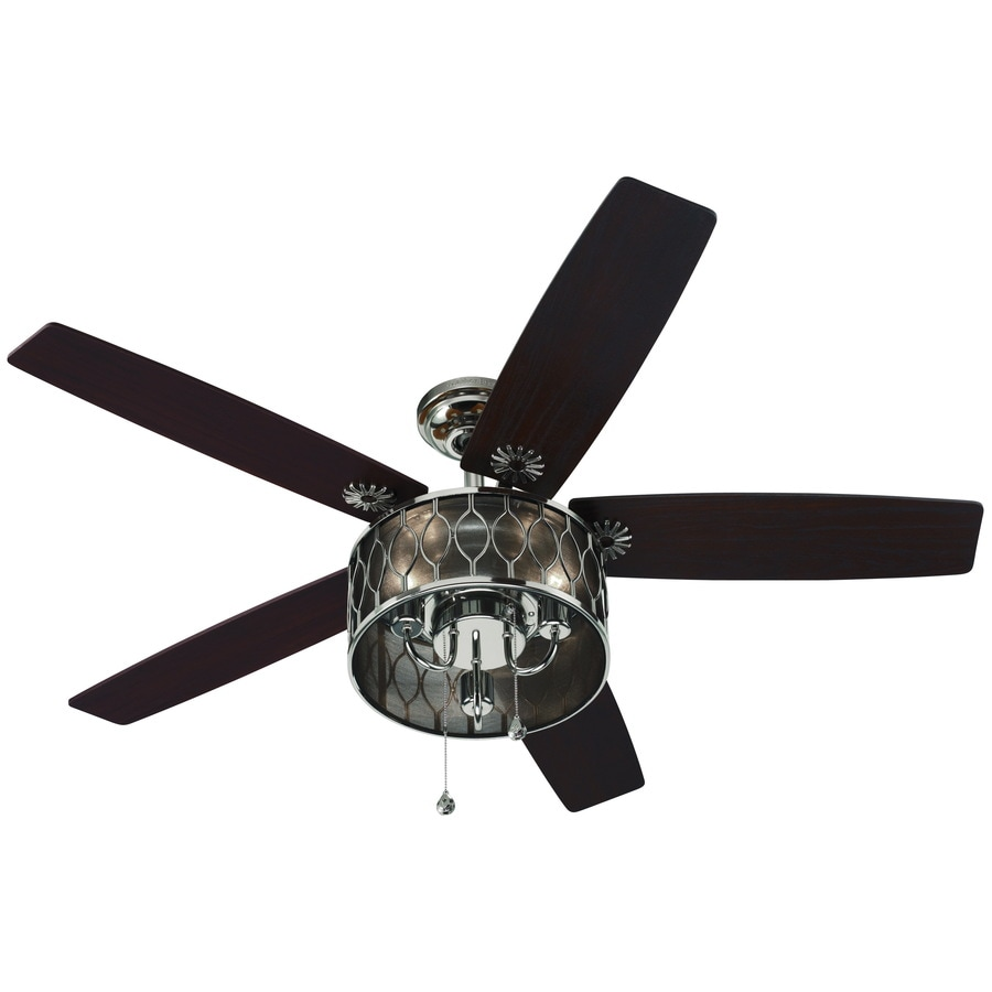 Harbor Breeze Angora 52 In Polished Nickel Downrod Mount Indoor Ceiling Fan With Light