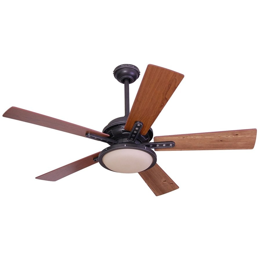 Harbor Breeze Lake Cypress 52 In Black Iron Indoor Downrod Or Close Mount Ceiling Fan