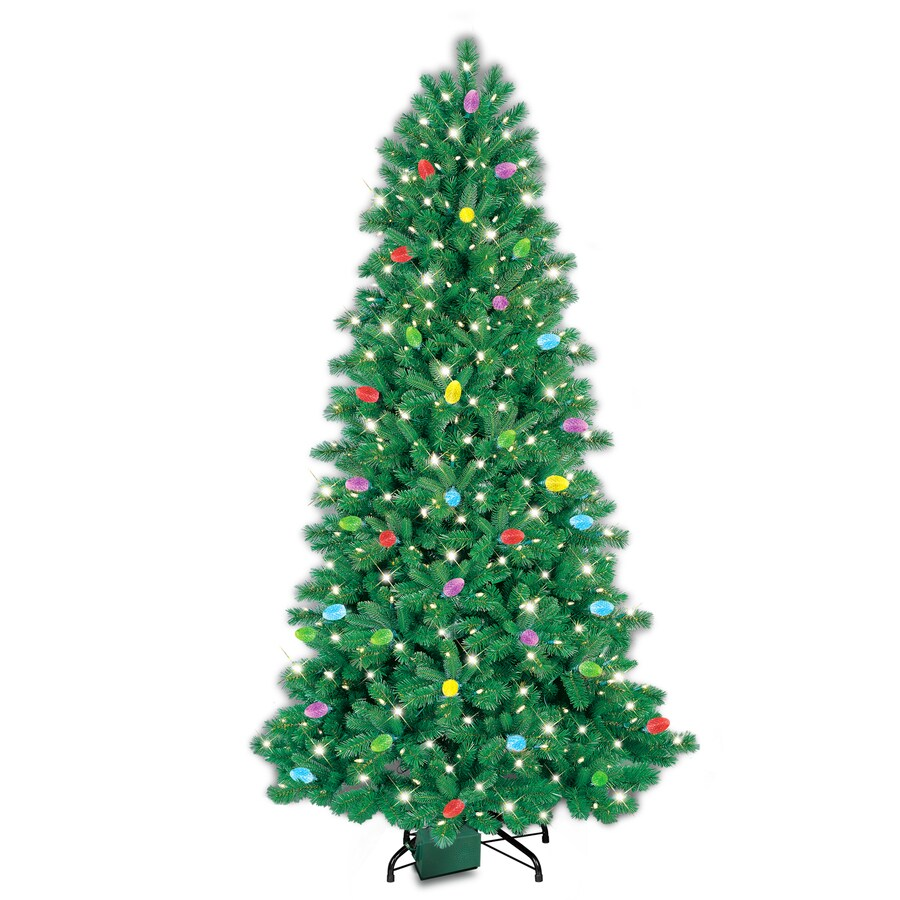 Shop GE iTwinkle 7.5-ft Pre-Lit Pine Artificial Christmas Tree with ...