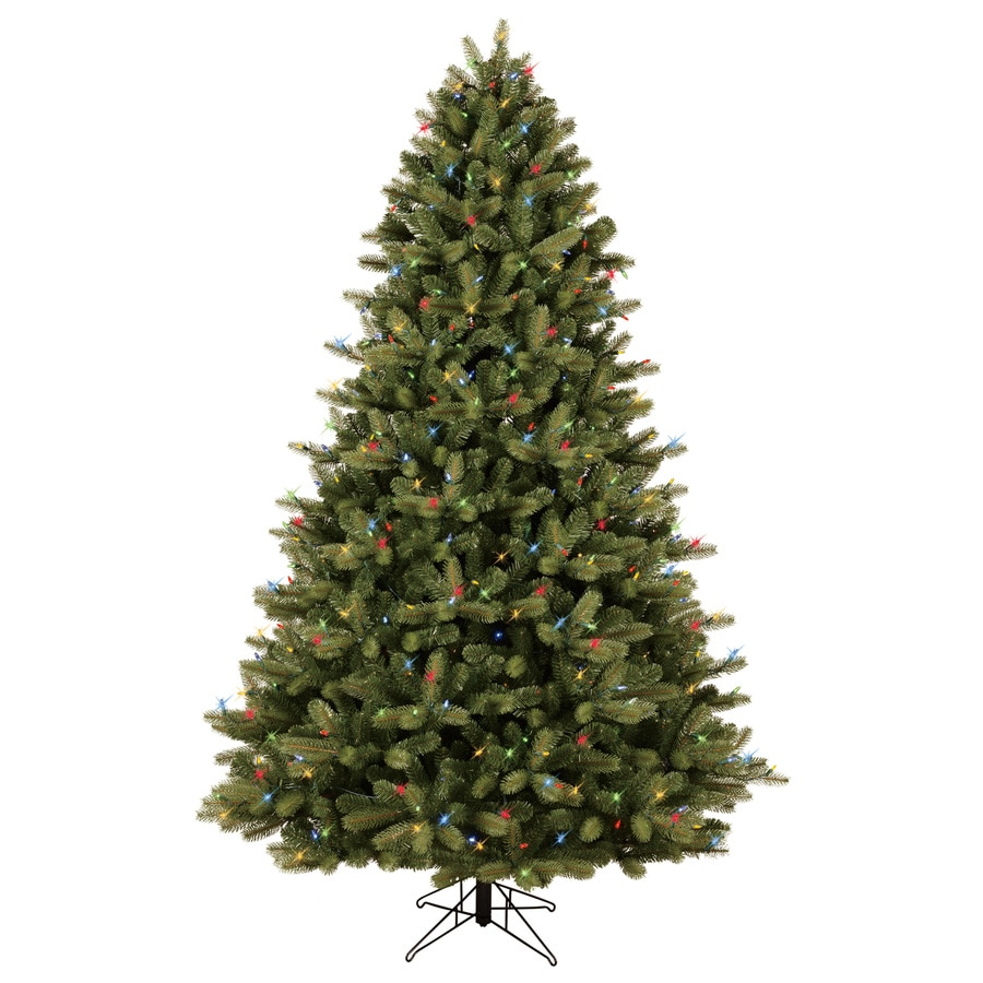 Shop GE 7.5-ft Pre-Lit Colorado Spruce Full Artificial Christmas ...