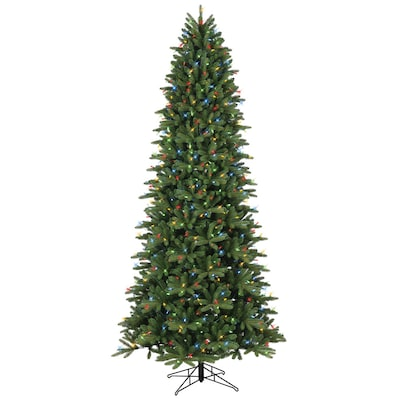 Ge 9 Ft Pre Lit Frasier Fir Slim Artificial Christmas Tree With 700 Multi Function Color Changing Warm White Led Lights At Lowes Com