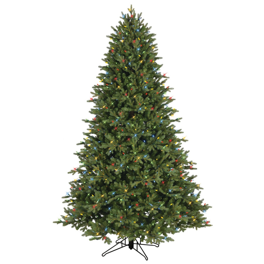 Shop Ge 7 5 Ft Pre Lit Aspen Fir Full Artificial Christmas