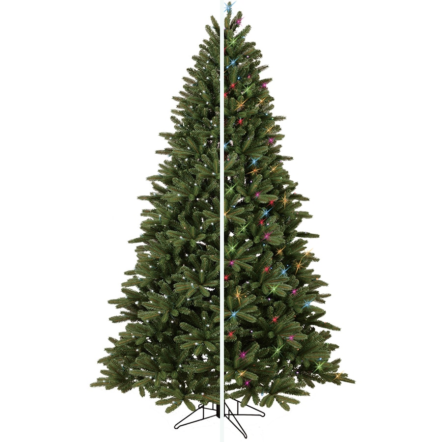 Shop GE 7.5-ft Pre-Lit Frasier Fir Artificial Christmas Tree with ...