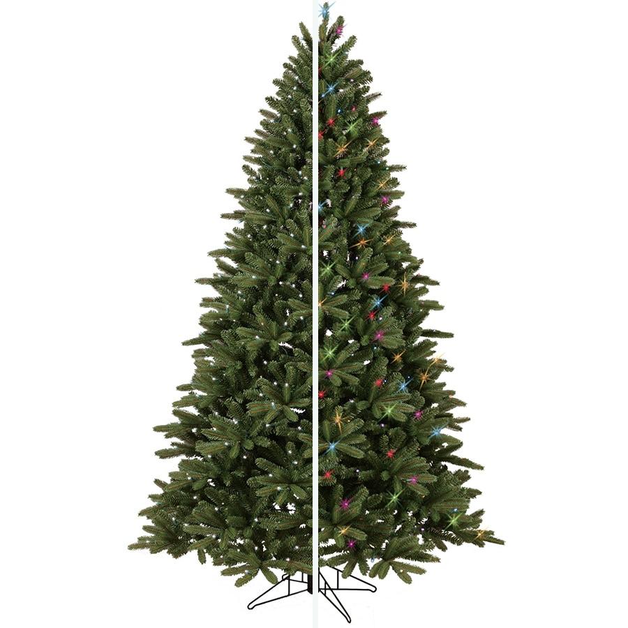 shop ge 7 5 ft pre lit frasier fir artificial christmas tree with color changing led lights at. Black Bedroom Furniture Sets. Home Design Ideas