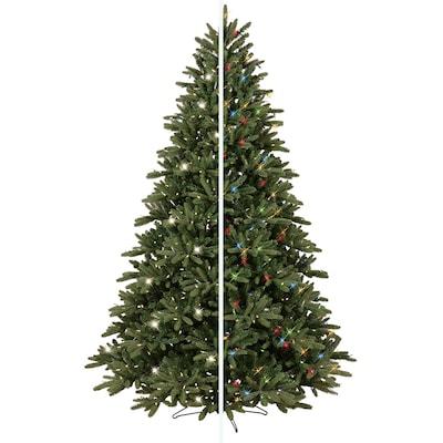 Frasier Fir Christmas Tree.7 5 Ft Pre Lit Frasier Fir Artificial Christmas Tree With Color Changing Led Lights