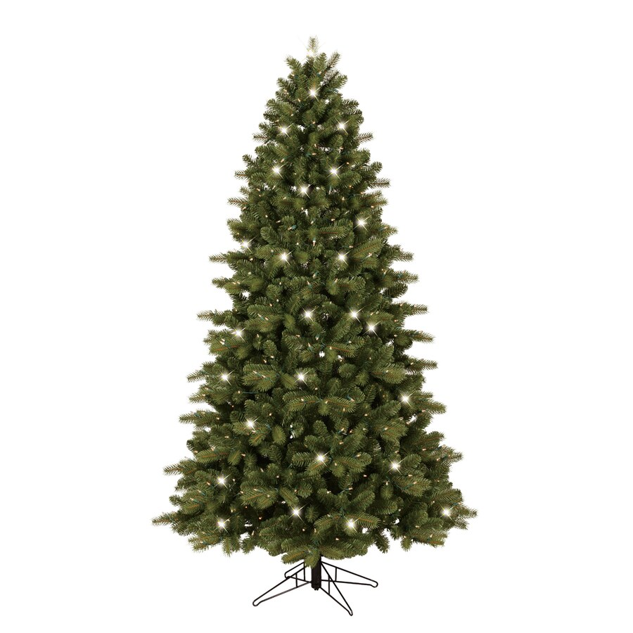 Shop ge ft pre lit colorado spruce artificial christmas