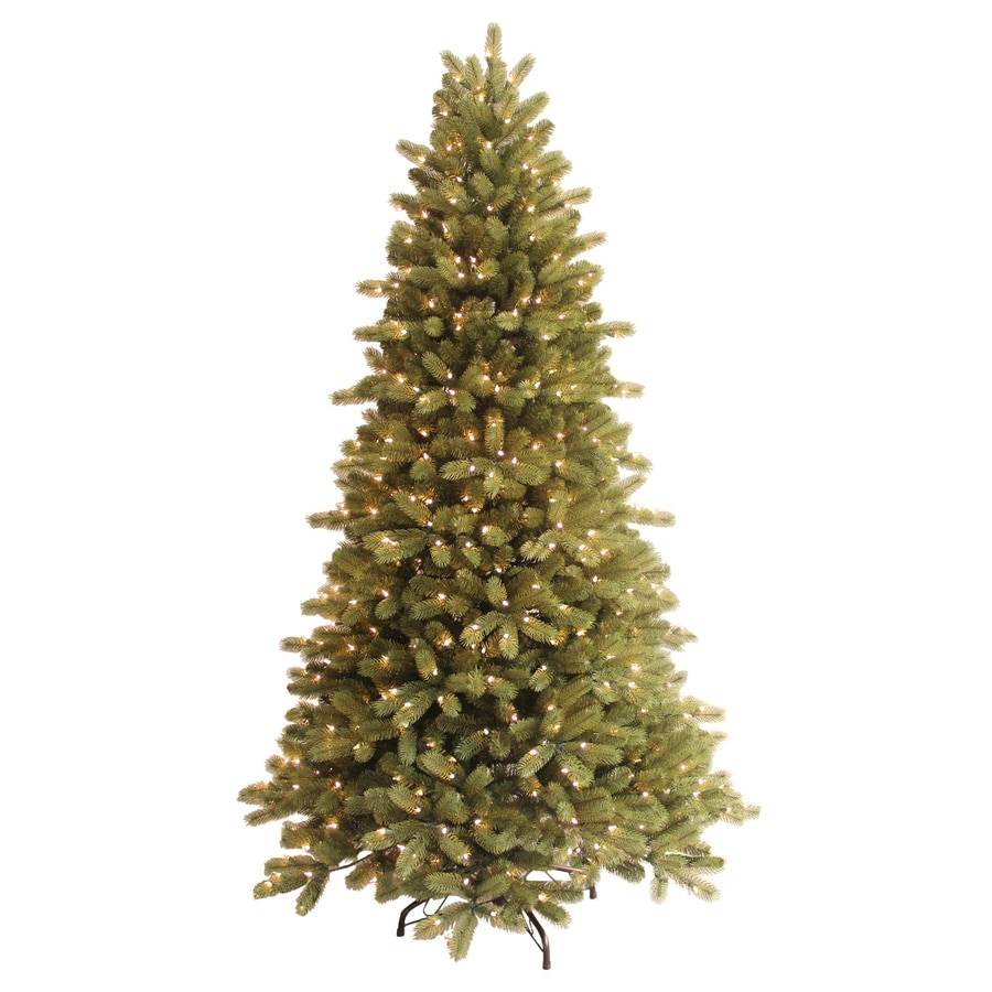 GE 7-ft Pre-Lit Spruce Artificial Christmas Tree with White Lights
