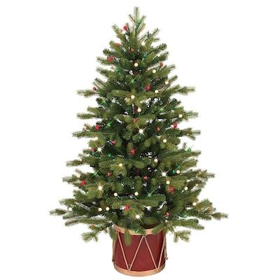 GE 4-ft Pre-Lit Colorado Spruce Slim Artificial Christmas ...