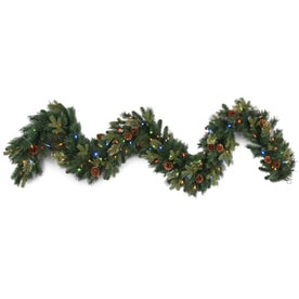 ge indoor pre lit 9 ft branch garland with color changing led lights