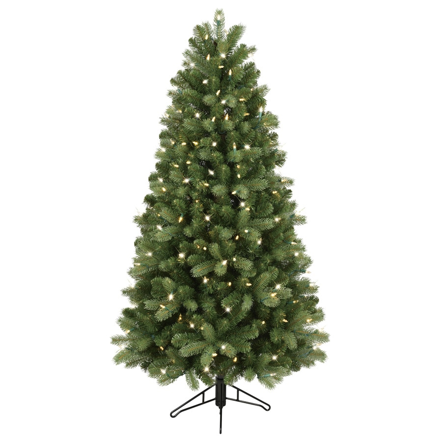 Shop GE 5-ft Pre-lit Colorado Spruce Artificial Christmas Tree with ...