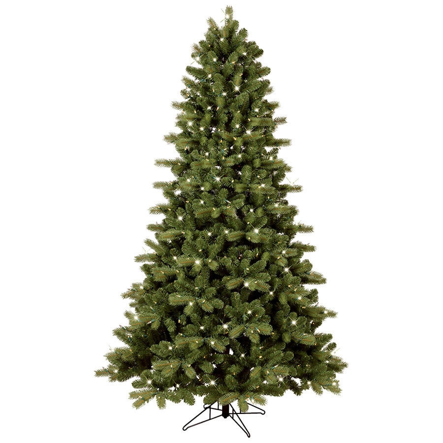 GE 7.5-ft Pre-lit Colorado Spruce Artificial Christmas Tree with 500 Color Changing Warm White LED Lights