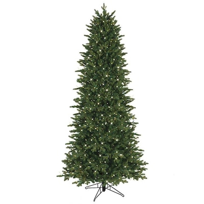 new style 4f8a6 caf4d 7.5-ft Pre-Lit Aspen Fir Slim Artificial Christmas Tree with 800 Constant  Clear Incandescent Lights