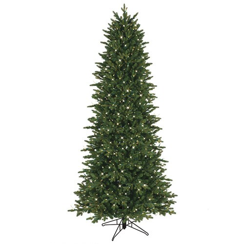 Slim 7 5 Ft Christmas Tree: GE 7.5-ft Pre-Lit Aspen Fir Slim Artificial Christmas Tree