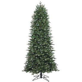 ge 75 ft pre lit aspen fir slim artificial christmas tree with 400 multi - Skinny Christmas Trees