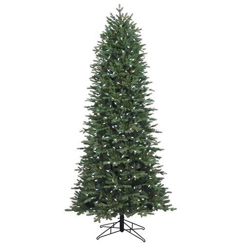 7 5 Foot Artificial Christmas Tree Multi Colored Lights: GE 7.5-ft Pre-Lit Aspen Fir Slim Artificial Christmas Tree
