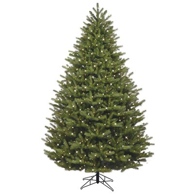 7 5 Ft Pre Lit Oakmont Spruce Artificial Christmas Tree With 1000 Constant White Clear Incandescent Lights