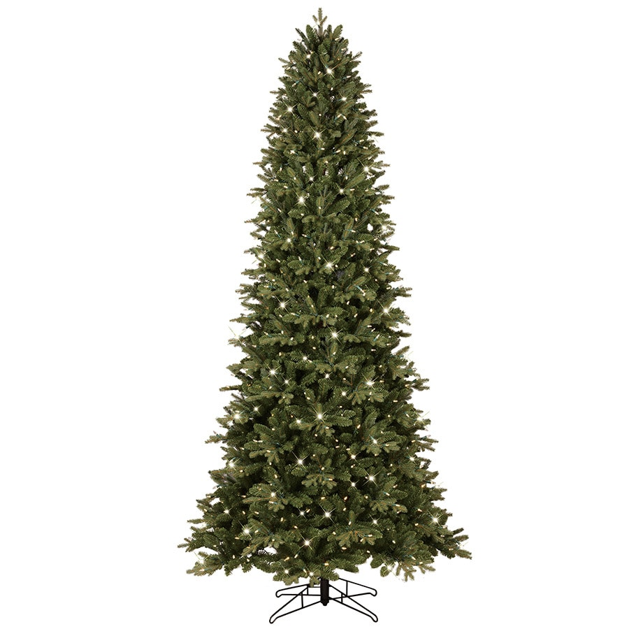 GE 9-ft Pre-lit Aspen Fir Slim Artificial Christmas Tree with 700 Color Changing Warm White LED Lights