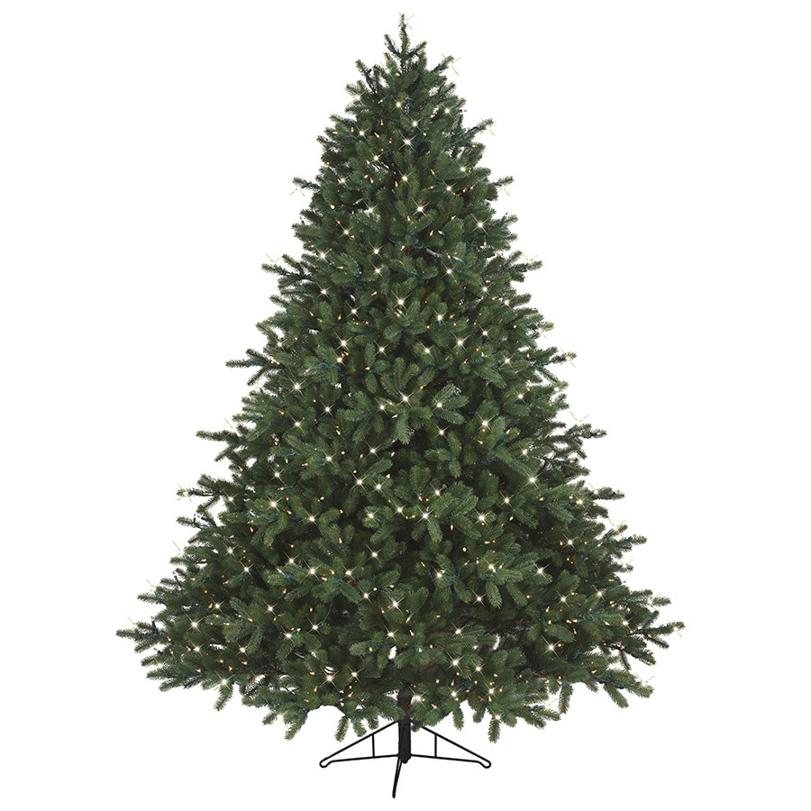 ge 75 ft pre lit pinehurst spruce artificial christmas tree with 1200 constant clear - Pre Decorated Artificial Christmas Trees