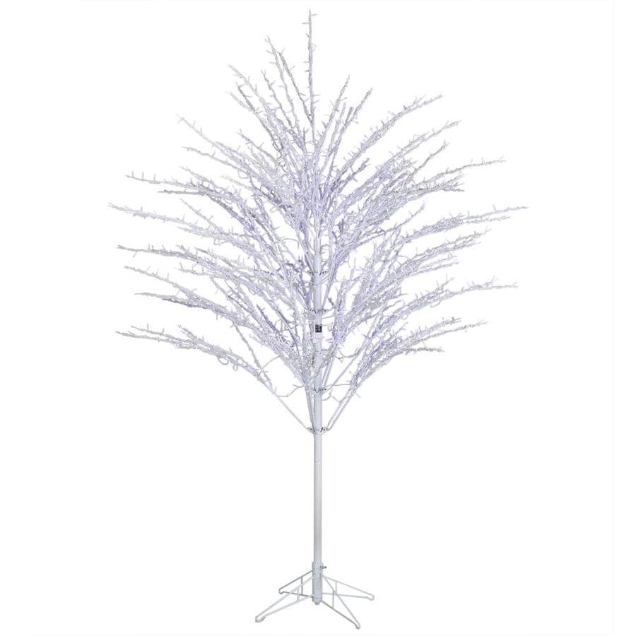GE 7.5-ft Pre-lit Willow Artificial Christmas Tree with ...