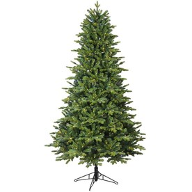 GE 7-ft Pre-lit Asheville Fir Artificial Christmas Tree with 500 Multi-function Color Changing LED Lights