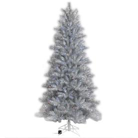 Ge 7 Ft Pre Lit Tinsel Artificial Christmas Tree With 400 Multi Function