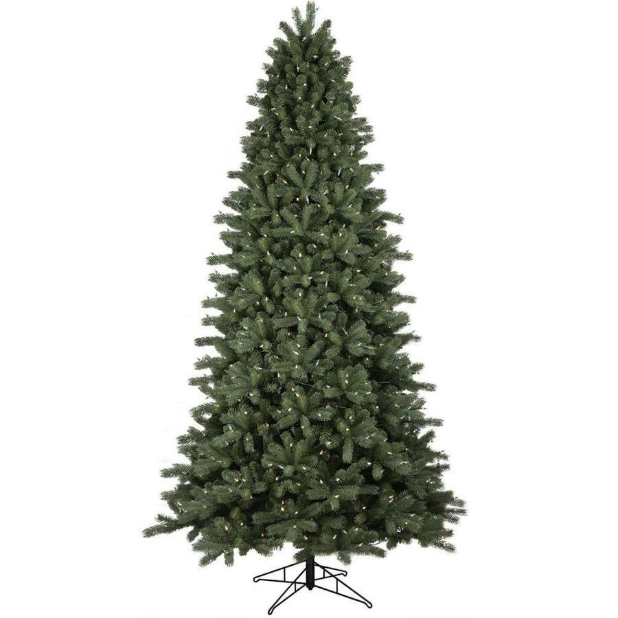 GE 9-ft Pre-lit Colorado Spruce Artificial Christmas Tree with 700 ...