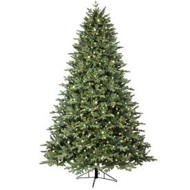 ge 75 ft pre lit aspen fir artificial christmas tree with 1000 multi - Green Christmas Decorations