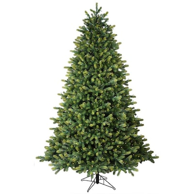 Artifical Christmas Trees.7 5 Ft Pre Lit Hampton Spruce Artificial Christmas Tree With 1500 Constant Warm White Led Lights