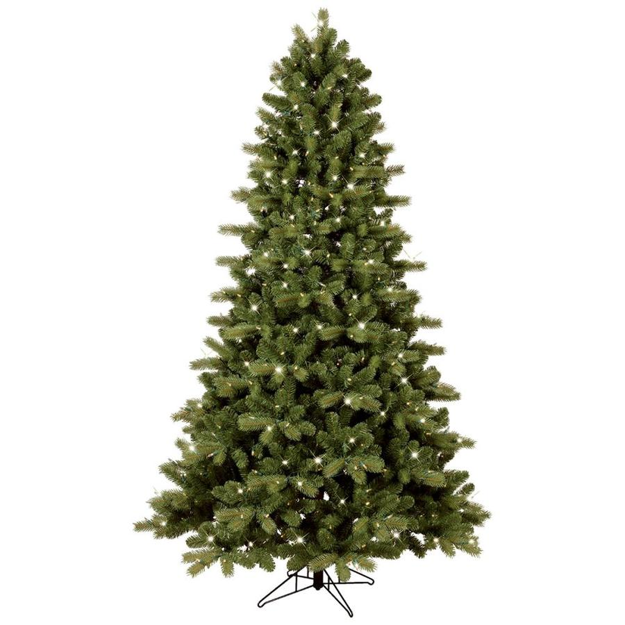 7 5 Foot Artificial Christmas Tree Multi Colored Lights: GE 7.5-ft Pre-lit Colorado Spruce Artificial Christmas