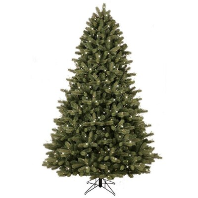 Christmas Tree Cut Out.7 5 Ft Pre Lit Colorado Spruce Artificial Christmas Tree With 600 Multi Function Color Changing Warm White Led Lights