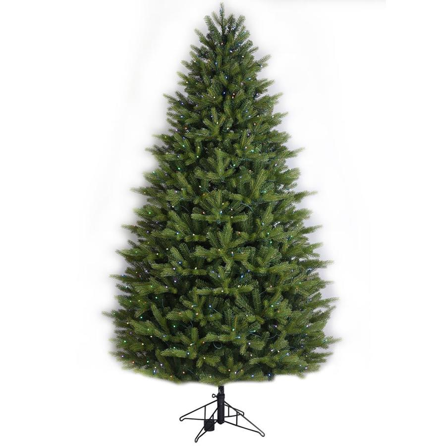 Ge 7 5 Ft Pre Lit Oakmont Spruce Artificial Christmas Tree With 500 Multi Function Color Changing Warm White Led Lights