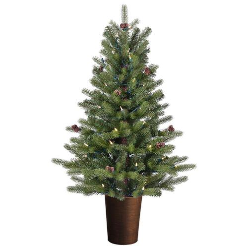 50 Foot Christmas Tree: GE 3.5-ft Pre-lit Oakmont Spruce Slim Artificial Christmas