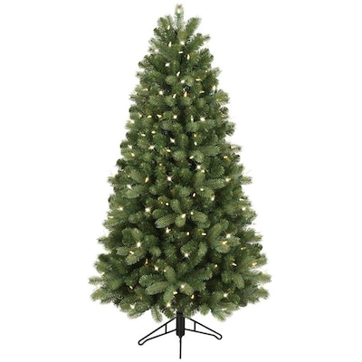 5 Ft Pre Lit Colorado Spruce Artificial Christmas Tree With 200 Multi Function Color Changing Warm White Led Lights
