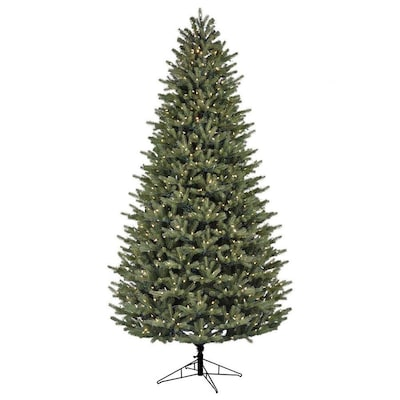 9 Ft Pre Lit Oakmont Spruce Artificial Christmas Tree With 900 Multi Function Color Changing Warm White Led Lights