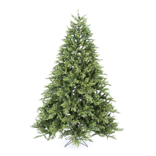 GE 7.5-ft Pre-Lit Norway Spruce Artificial Christmas Tree ...