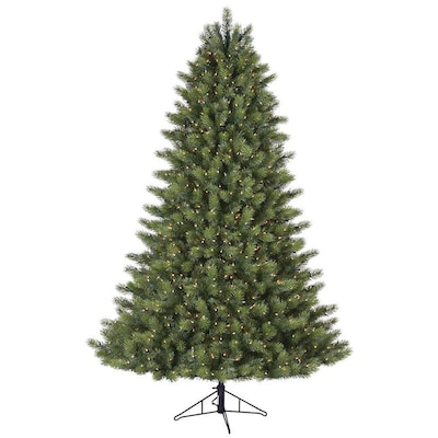 Scotch Pine Christmas Tree.Ge 7 5 Foot 1200 Clear Lights Scotch Pine At Lowes Com