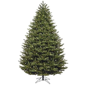 GE 7.5-ft Pre-Lit Oakmont Spruce Artificial Christmas Tree with 600 Multi-Function Color Changing Warm White LED Lights