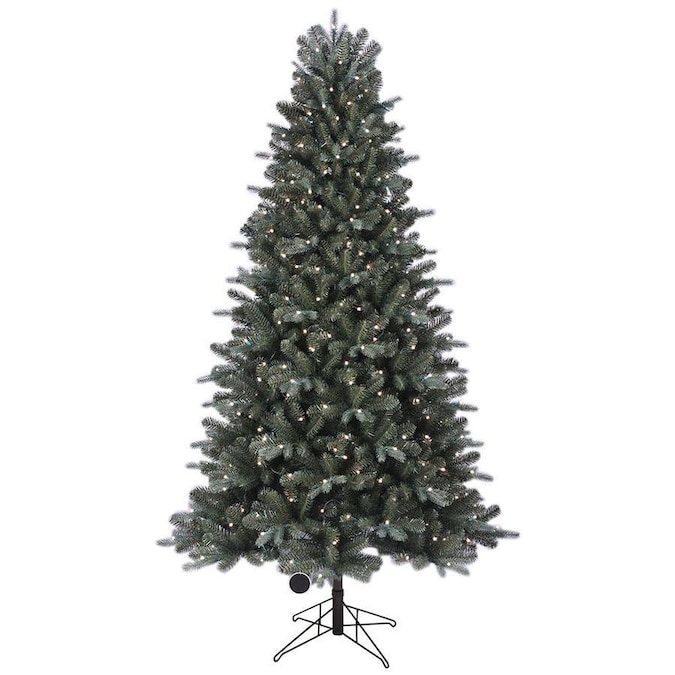 GE 7.5-ft Pre-Lit Boone Spruce Artificial Christmas Tree ...