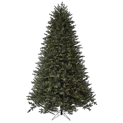 GE 7.5-ft Aspen Fir Pre-Lit Traditional Artificial Christmas Tree with 1000 Multi-Function Color Changing Warm White LED Lights