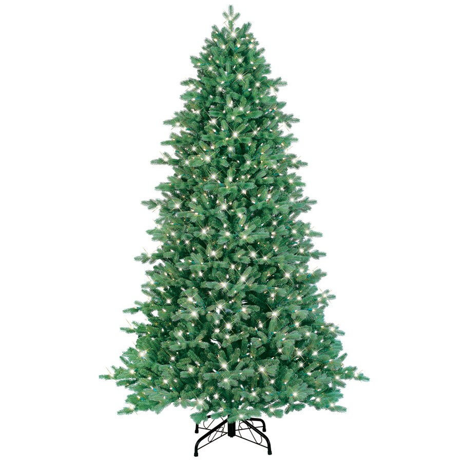 GE 7.5-ft Pre-Lit Spruce Artificial Christmas Tree with White Lights